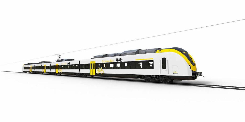 So sollen sie aussehen, die Alstom-Ele...se der Breisgau-S-Bahn einsetzen will.  | Foto: Alstom