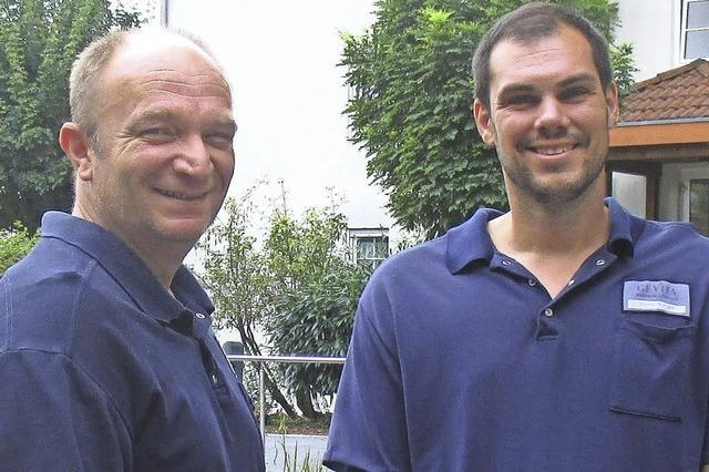 Stephan STiller und Mark Morgen zum Thema Demenz in der Gevita in Lörrach