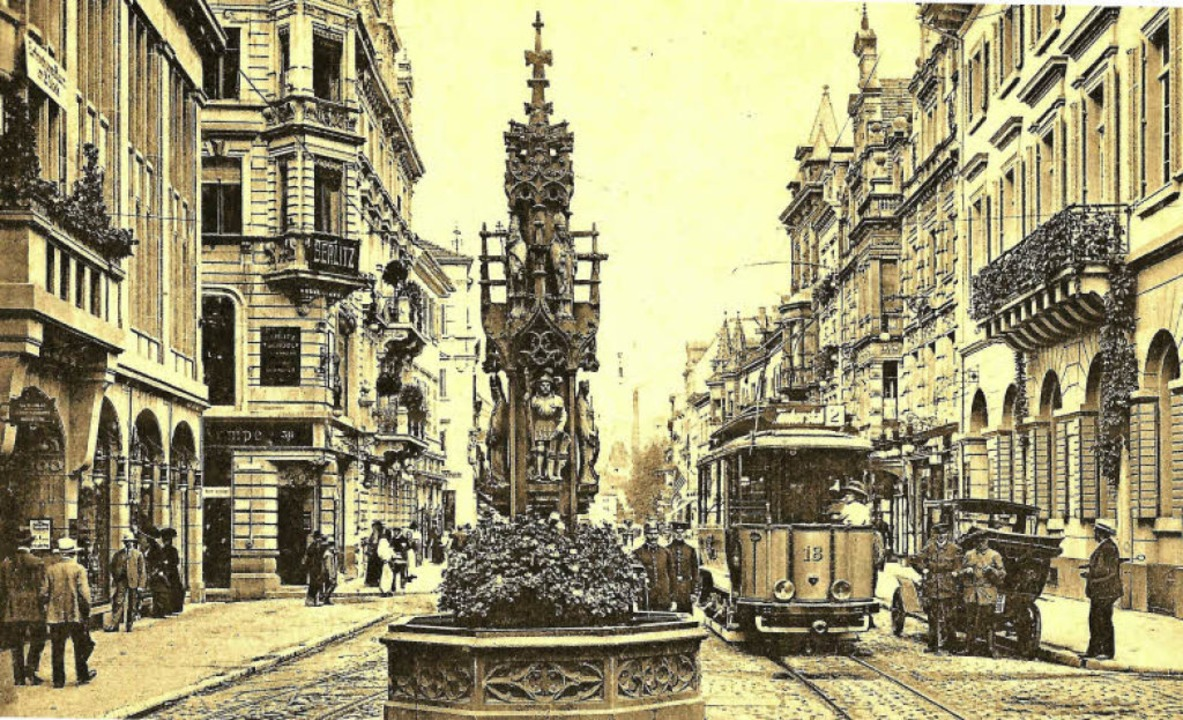 Mehr als  130 Jahre lang stand der got... in die heutige Kaiser-Joseph-Straße.   | Foto: Archiv Hans Sigmund