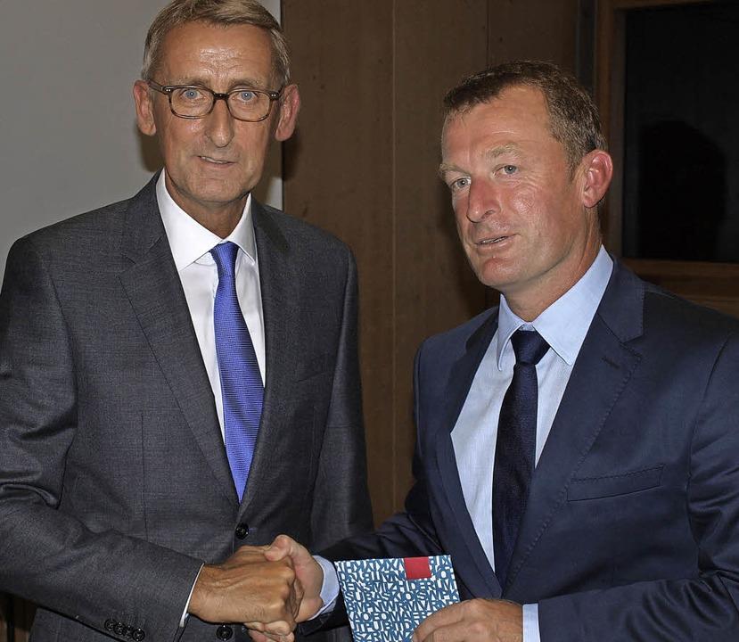Armin Schuster (links) und Ulrich Lusche.     Foto: Paul Schleer
