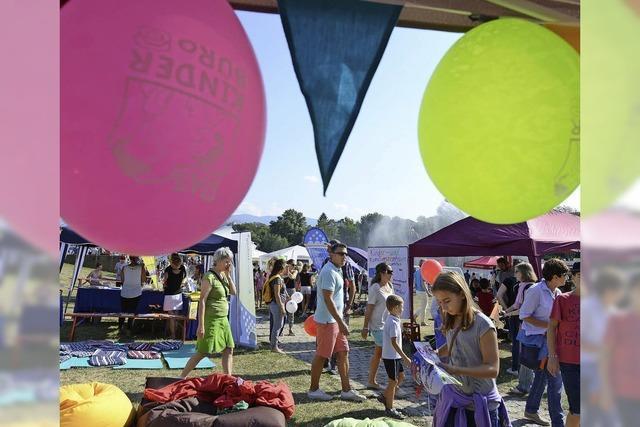 Zum Weltkindertag gab's Spiel, Spaß und Infos im Seepark