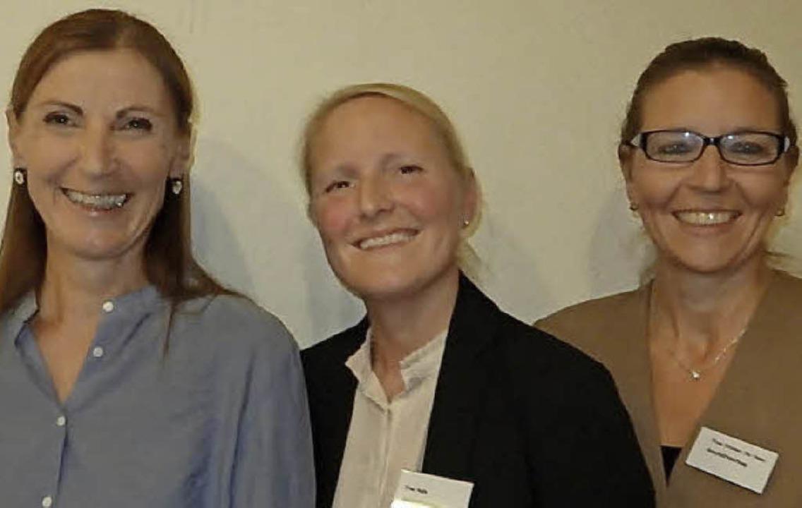 Vorstand und Geschäftsführung der Lörr... Valérie Ralle, Dagmar Steiner-de Haas  | Foto: Johanna Hoegg