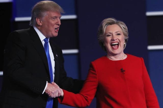 Clinton hat nach engagierter TV-Debatte die Nase vorn
