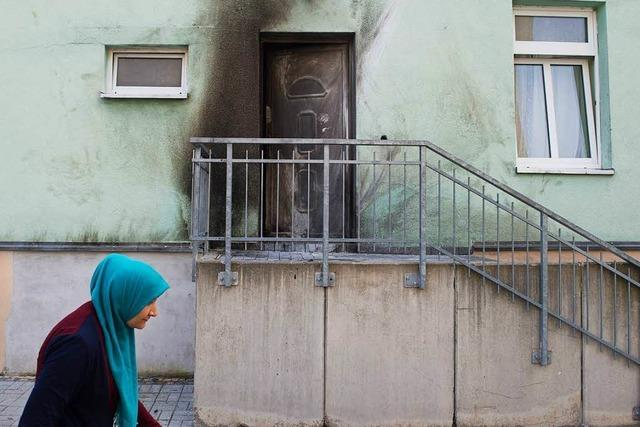 Sprengstoffanschläge vor Moschee und Kongressgebäude in Dresden