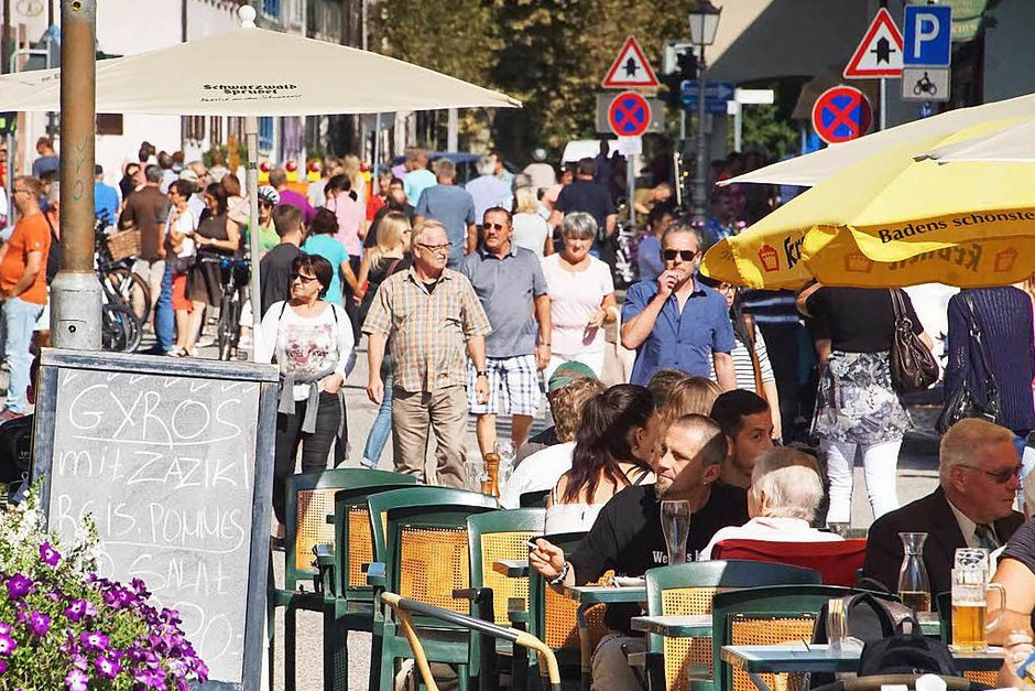 Herbstmarkt in Kenzingen mit verkaufsoffenem Sonntag in der Innenstadt (Foto: Ilona Huege)
