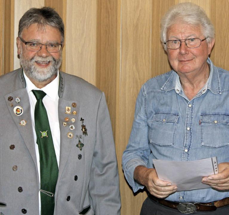 Oberschützenmeister  Woywod und Horst Röll   | Foto: privat