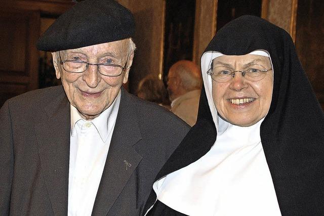 Der 104-jährige Priester Kurt Erhart war Gast der Reihe