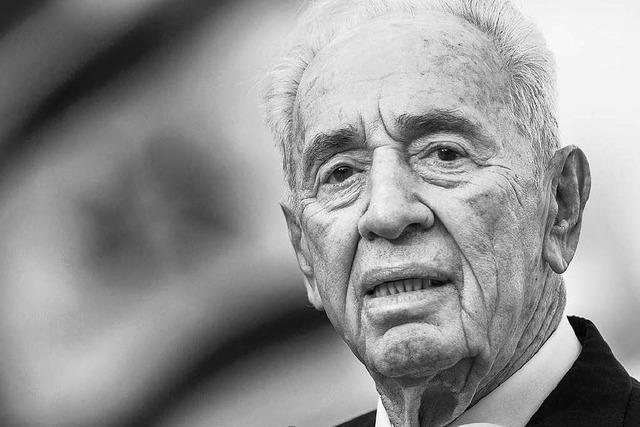 Israels Ex-Präsident Peres stirbt im Alter von 93 Jahren