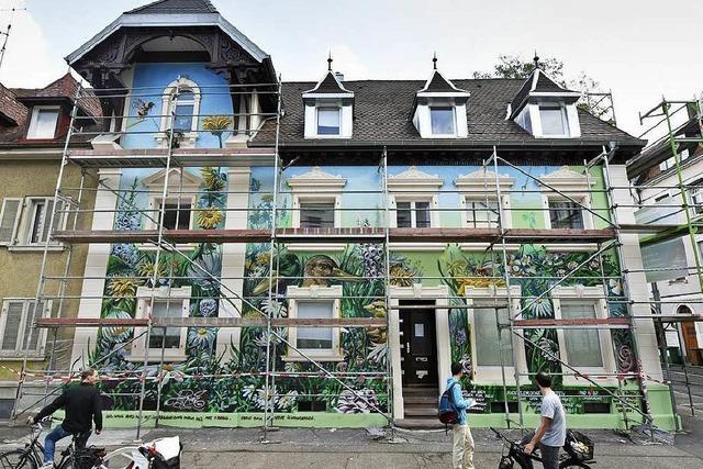 Warum ein Graffiti-Künstler ein Haus in der Wiehre nicht fertig besprühen darf