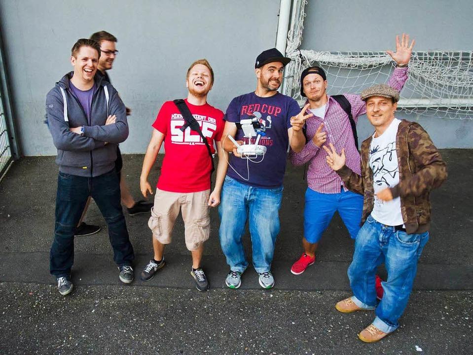Das Team des SC-Films, von links: Arne...l, Felix Kromberger, Christian Bucher.  | Foto: privat
