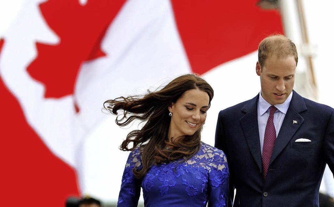 Derzeit in Kanada unterwegs: Prinz William und Kate   | Foto: dpa/Bernhardt