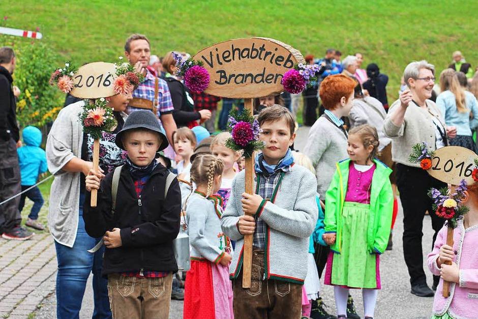 Beim Viehabtrieb im Münstertal gab es viel zu sehen. Entsprechend gut besucht war die Veranstaltung am Samstag. (Foto: Carlotta Roch)