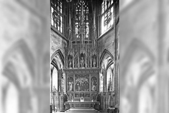 Für 100 Jahre trug der Hochaltar im Münster einen neugotischen Zieraufsatz