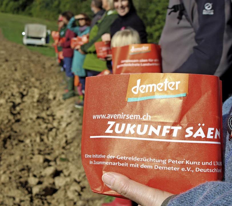 Jeder hat es selbst in der Hand, eine ...kfreie Landwirtschaft zu unterstützen.  | Foto: Anja Bertsch