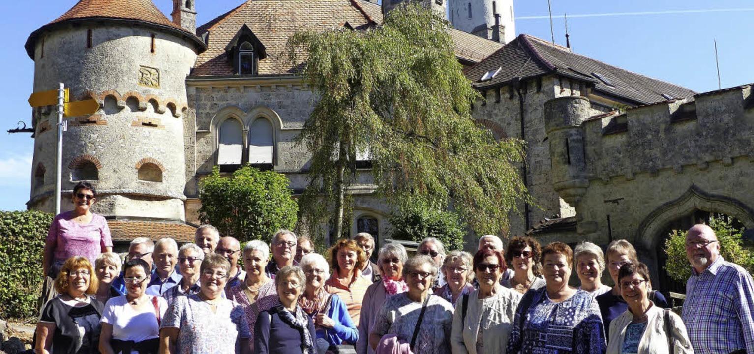 <BZ-FotoAnlauf>Kirchenchor Reichenbach...>  Schloss Lichtenstein war ein Ziel.   | Foto: A. Vögele