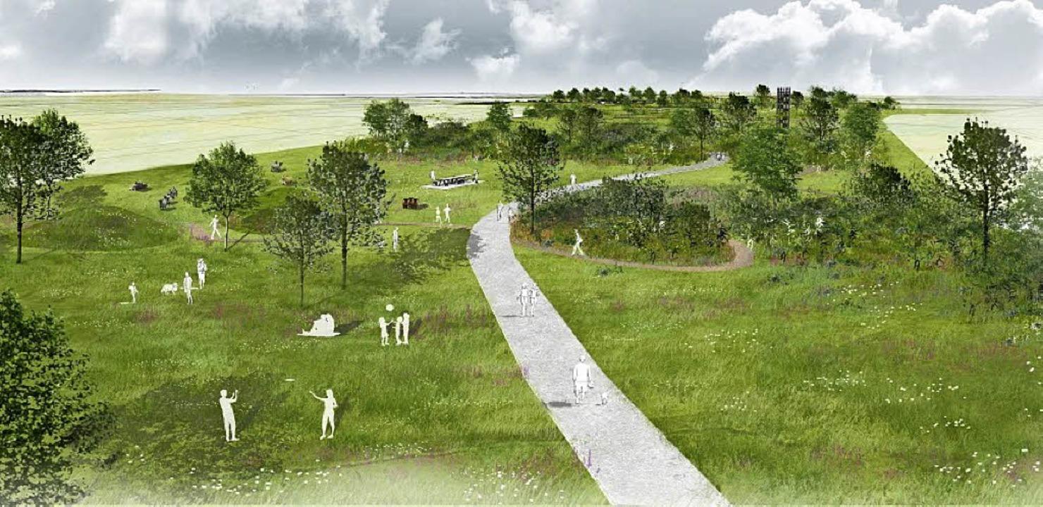 So könnte der Park dereinst aussehen.   | Foto: Visualisierung: ZVG
