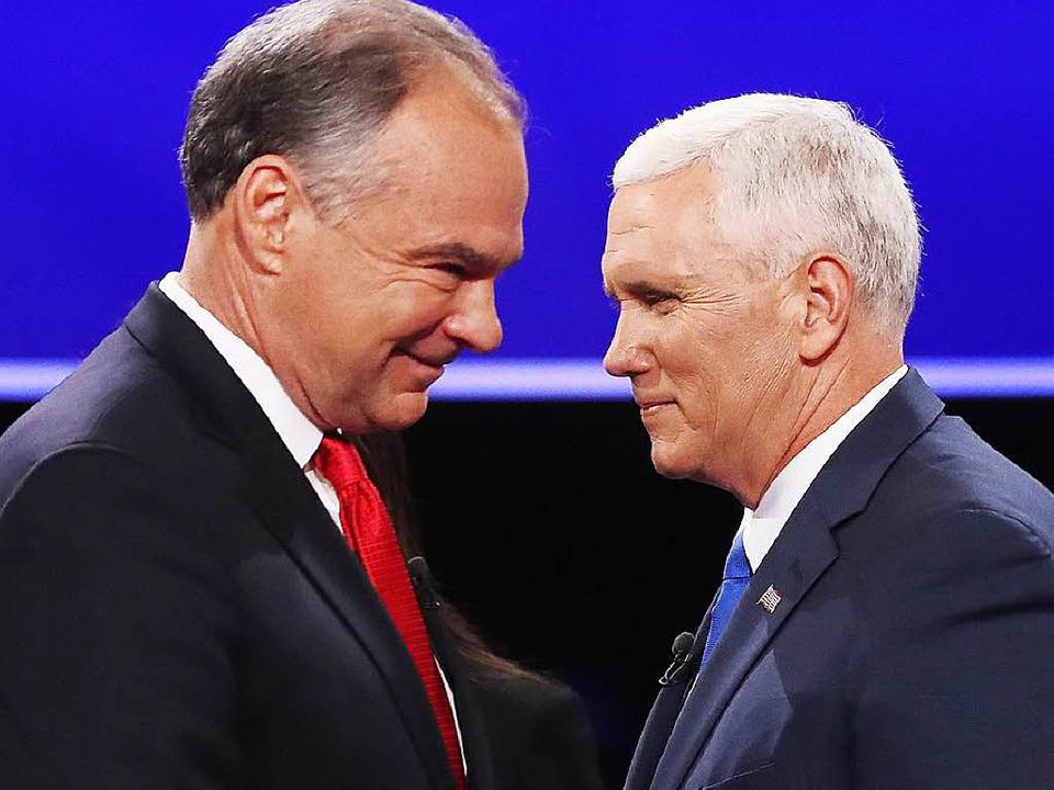 Mike Pence (rechts) und Democrat Tim Kaine (links)  | Foto: dpa