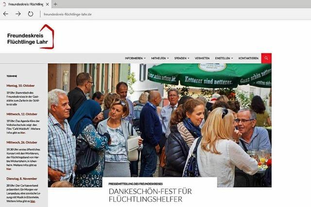 Der Freundeskreis Flüchtlinge Lahr hat eine neue Website