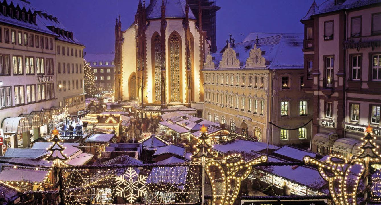 Weihnachtsmarkt Würzburg.Adventszauber In Würzburg Bzcard Leserreisen Badische Zeitung