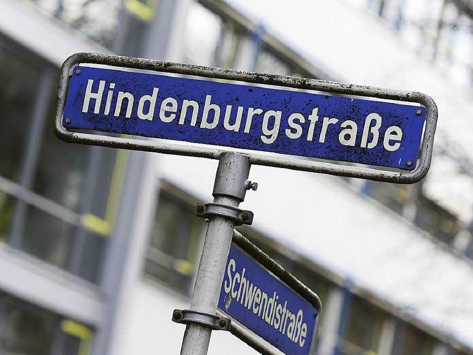 Die Hindenburgstraße soll umbenannt we...agt der Bericht der Straßenkommission.  | Foto: Ingo Schneider