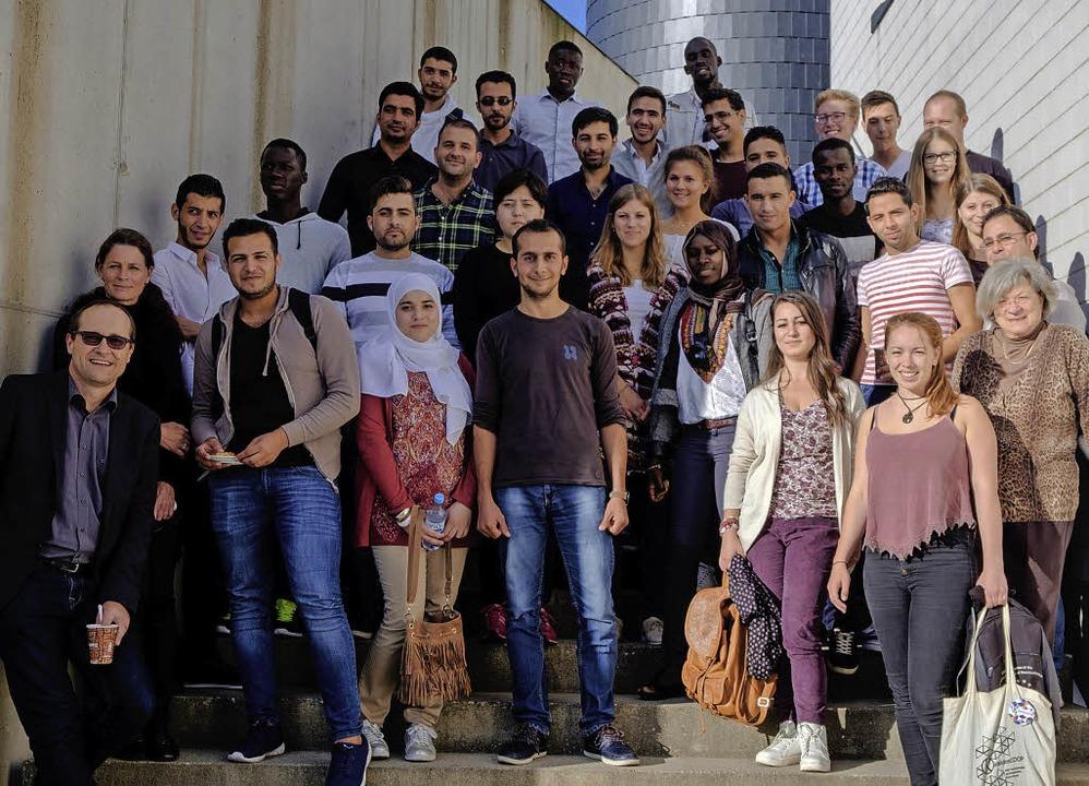 Die Teilnehmer des Kontaktstudium mit ...nisatoren und  Studierenden der DHBW.   | Foto: Ansgar Taschinski