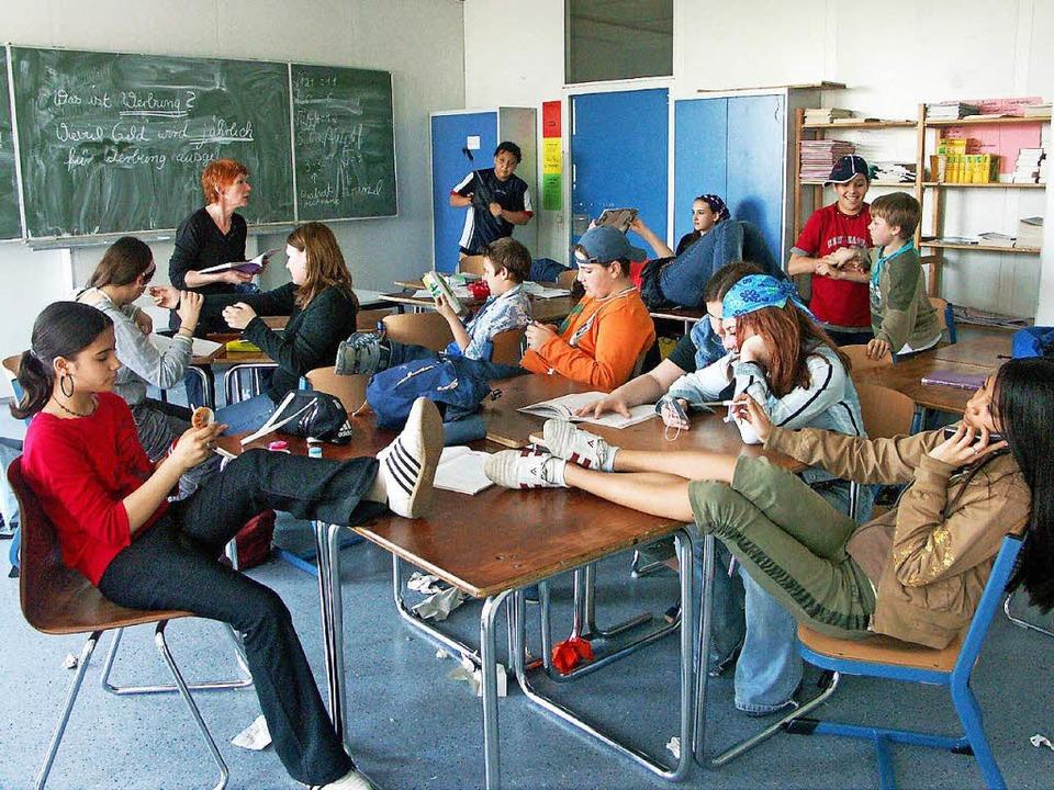 Gelangweilte Schüler