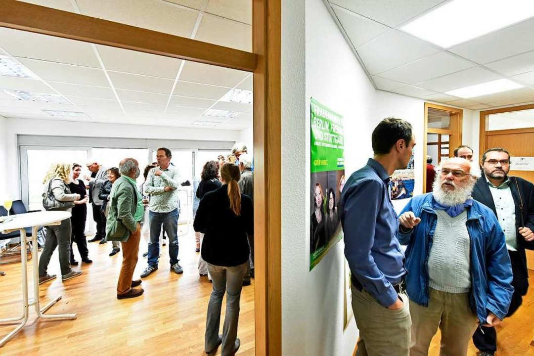 Die neuen Büroräume der Grünen wurden eingeweiht.  | Foto: Michael Bamberger