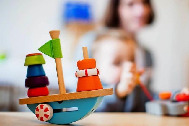 Kinder statt Flüchtlinge: Container-Kita in Schlatt eröffnet