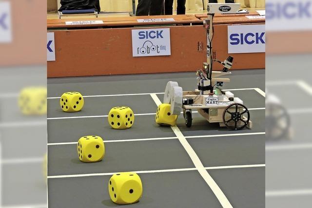 Die Würfel sind gefallen beim Sick Robot Day