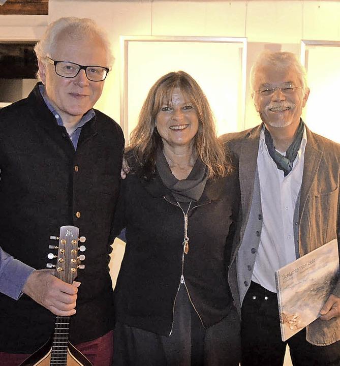 Musik, Bild und Text: Uli Führe, Betti...rnissage im Hebelhaus am Freitagabend   | Foto: Nadine laile