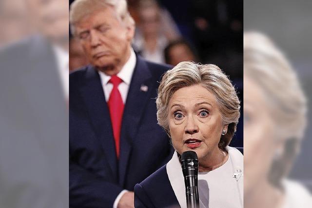 Beim zweiten TV-Duell geraten Hillary Clinton und Donald Trump heftig aneinander – es ging um Frauen, E-Mails und die Wall Street