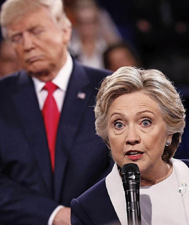 Trump und Clinton in St. Louis    Foto: AFP