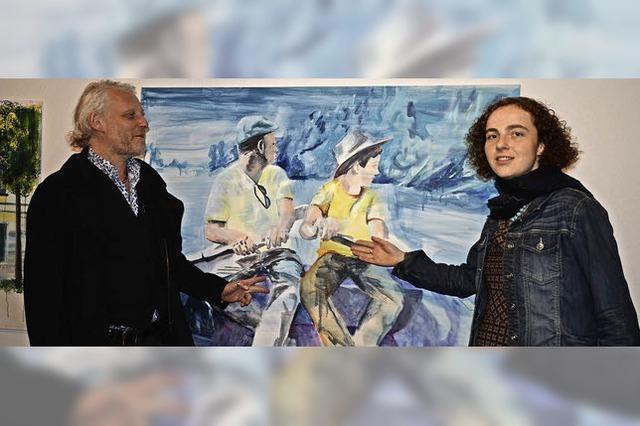 """Christine Gruhler und Helge Emmaneel stellen in der Galerie """"Brunnenstüble"""