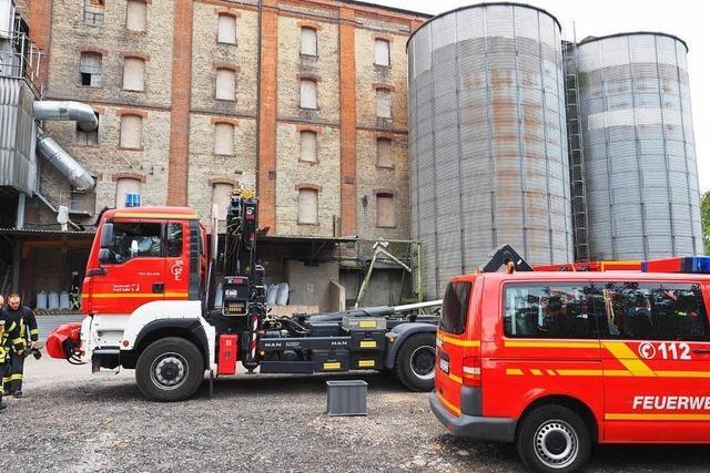 Brand in der Malzfabrik
