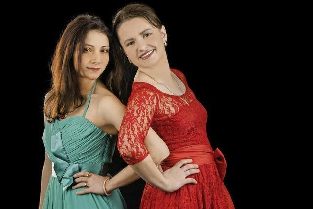 Valeria Gleim und Ayla Schmidt spielen Werke der Romantik im Glashaus