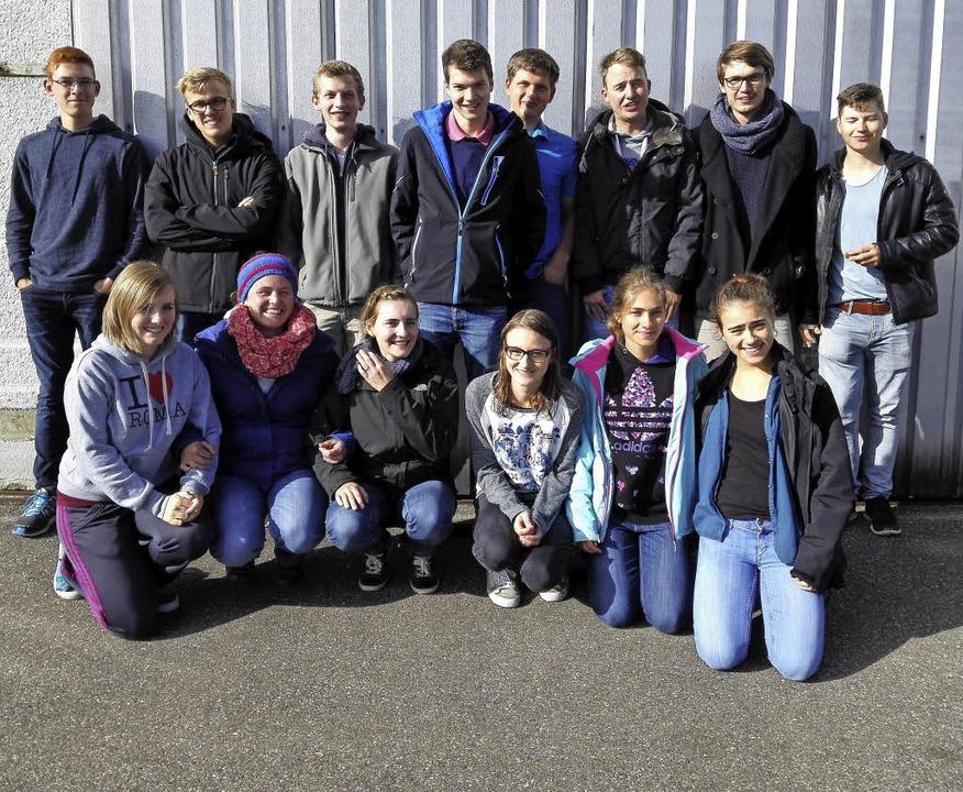 Die Delegation vom Hotzenwald beim Landestreffen   | Foto: Privat