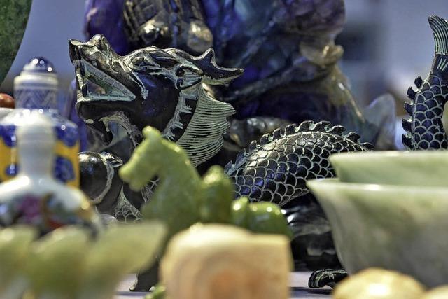 Auf dem Messegelände finden die Internationalen Mineralien- und Fossilientage statt
