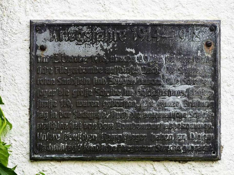 Am 12. Oktober 1916 wurde das Gebäude ...ie Sackgasse (Martinsgässle) gestürzt.  | Foto: Thomas Kunz