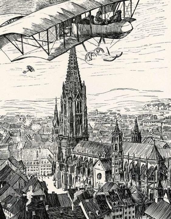 Französische Flieger über Freiburg, au...llustrierten Zeitung vom Dezember 1914  | Foto: Stadtarchiv (4)/Thomas Kunz