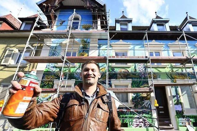 Kein Denkmal: Graffiti-Haus in der Wiehre kann bleiben