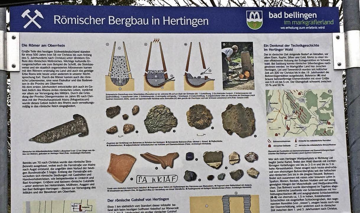 Mit einer neuen Tafel oberhalb von  He...baus in Hertingen aufmerksam gemacht.     Foto: Jutta Schütz