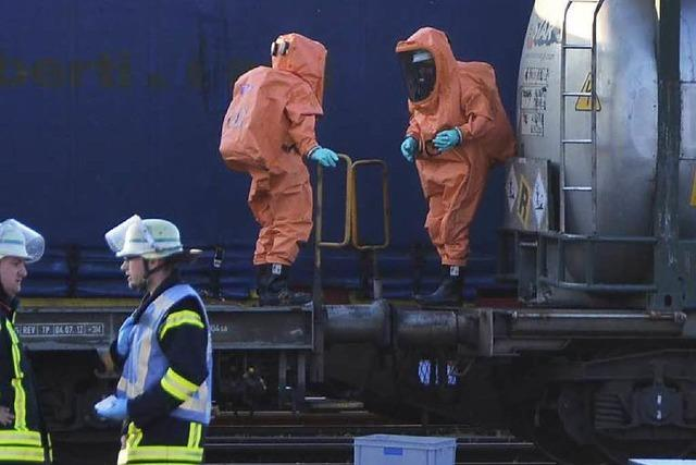 Gefahrguteinsatz am Bahnhof wegen möglichen Schadstoffes