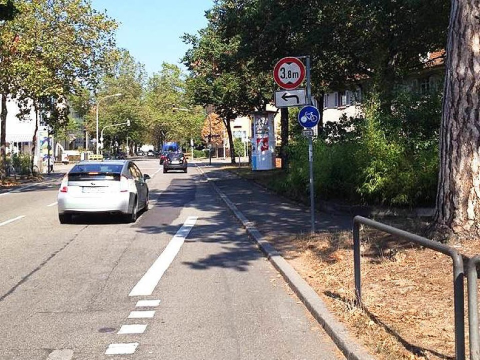 Ein Fahrradweg in der Stefan-Meier Straße endet im Nichts.  | Foto: Vanja Tadic