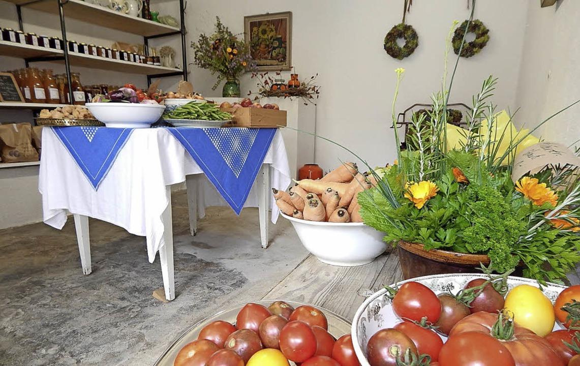 Gesund und hübsch anzuschauen: Ein Blick in das Selbstbedienungsgeschäft   | Foto: Claudia Gempp