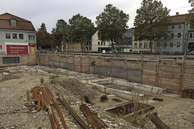 Stillstand beim Bau an der Bahnlinie