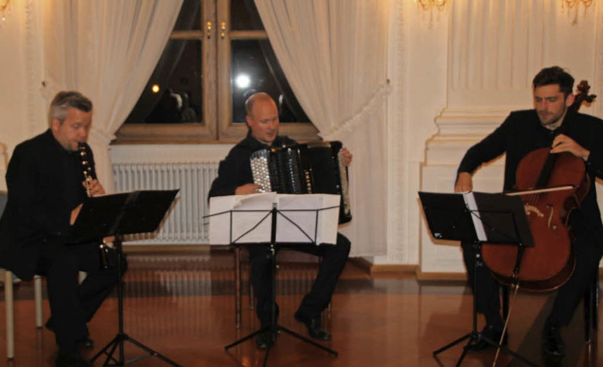 Das Trio Neuklang beim Konzert im Fest...on)  und Arthur Hornig (Violoncello).   | Foto: Margit Matyscak