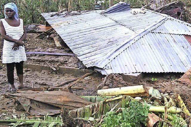 Wehrerin hält Kontakt zu Betroffenen auf Haiti