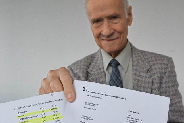 1400 Franken Strafe für einen Parkplatzrempler ohne Schaden