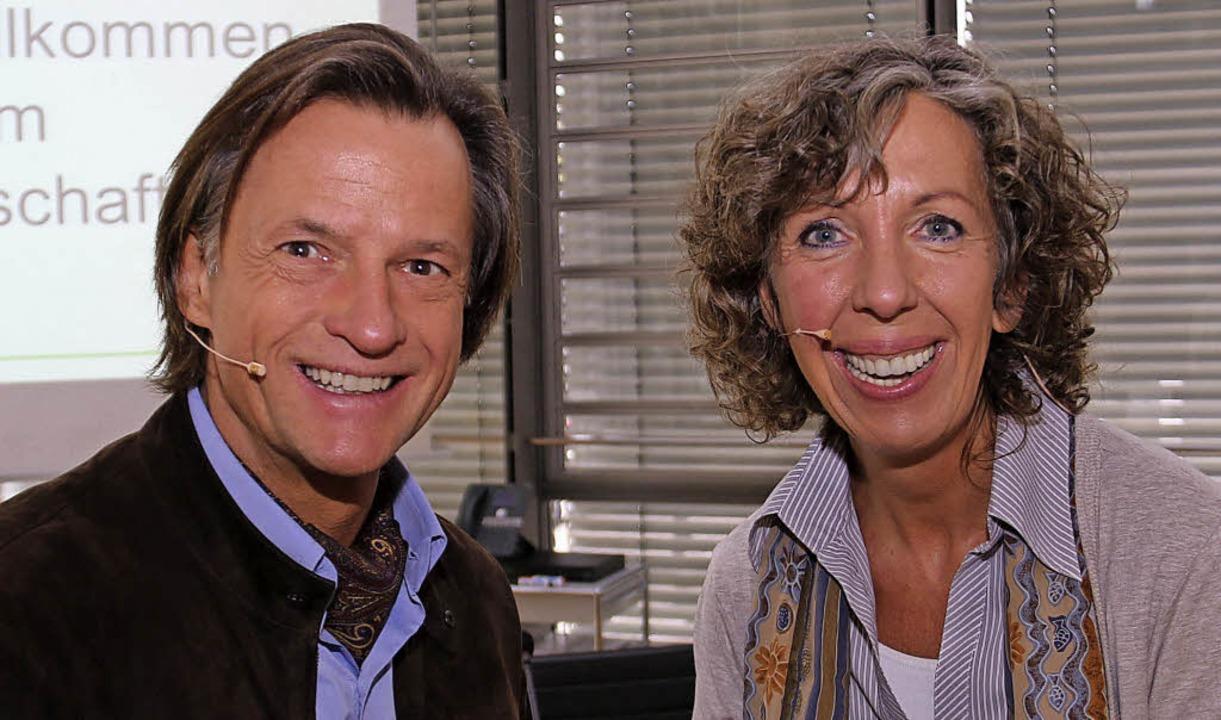 Bärbel und Sebastian Rockstroh sprachen beim Frauenwirtschaftstag.   | Foto: Dagmar Barber