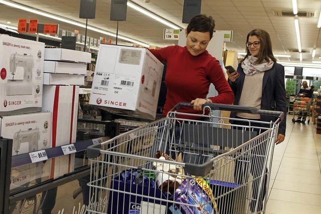 Drei Minuten lang einkaufen – ohne Geld